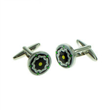 Black Accents Tudor Rose Cufflinks X2BOC196