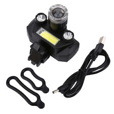 Safety Waterproof USB Rechargeable LED Bike Front Light Headlamp Headlight GS