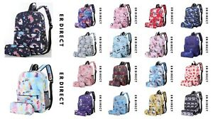 Unisex Children Kids Printed Backpacks Rucksack School Bag Matching Pencil Case