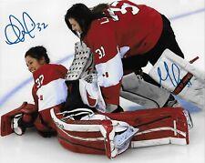 Auto. Charline Labonte Genevieve Lacasse Team Canada 2014 Sochi Olympics 8x10 #2