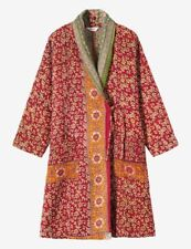 10 Vintage Handmade kantha Long Winter Jacket Reversible Ralli Gudri Coat KQ-03