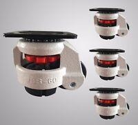 "Retractable Leveling Swivel Machine Casters  2"" Nylon Wheel *Set of 4* -1102 lb"