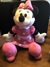 """Disney Minnie Mouse 16"""" Plush Backpack Pink Dress Doll Figure Stuffed Toy - Pink"""