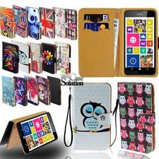 For Various Nokia Asha SmartPhones  - Leather Wallet Stand Flip Case Cover