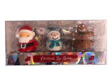 Festive Christmas Themed Lip Balm Pets Set of 3 Xmas Lip Balms Gift set
