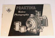 Anleitung Praktina Makro Photographie