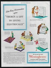 WESTINGHOUSE electric home appliance image 59 1945 Vintage Print Ad