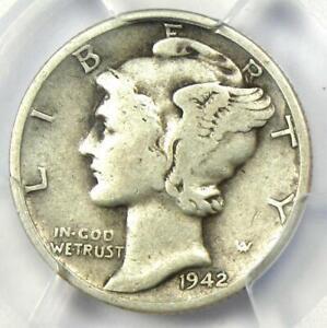 1942/1-D Mercury Dime 10C - PCGS VG Detail - Rare Overdate Variety Coin!