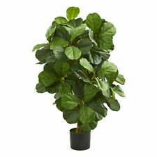 Fiddle Leaf Artificial Tree Realistic Plant Nearly Natural 3.5'Home Garden Decor