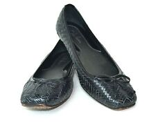 COMFORTABLE COLE HAAN BLACK GENUINE LEATHER FLAT MULE SHOES SIZE 6.5 B INDIA