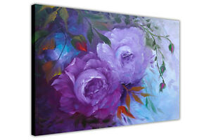 Purple Blossom Flowers Canvas Wall Art Prints Oil Painting Re-Print Pictures