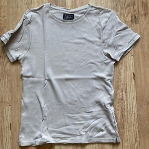 Mens Medium Destruct Destruction Breeds Creation Fitted Sand Coloured T Shirt