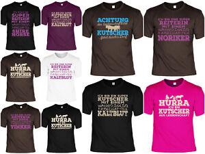 Pferde T-Shirt Sprüche - Kutscher  - Noriker - Tinker - Shire Horse - Kaltblut