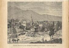Stampa antica ERZURUM ERZERUM panorama Turchia Turkey 1895 Old antique print