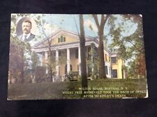 Wilcox House Buffalo New York Vintage Color Postcard President Roosevelt Oath