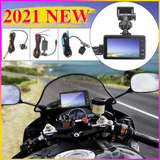 1080P HD 3 INCH Dual Camera Motorcycle DVR Dash Cam Driving Recorder G-sensor