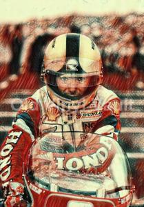 Joey Dunlop Art Print New A3 size