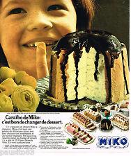 PUBLICITE ADVERTISING 055  1976  MIKO   glaces  CARAIBO