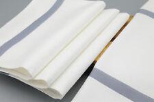Garnier-Thiebaut Natte White Cotton Bistro Napkins (Set of 4) Zinc Stripe