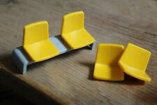 Playmobil 3186 Aeroline Boarding Gate Spares, Bench and Yellow Chairs
