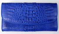 BLUE REAL GENUINE CROCODILE alligator SKIN LEATHER WALLET NEW LONG PURSE LADIES