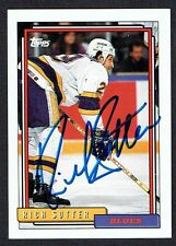 Rich Sutter #434 signed autograph auto 1992-93 Topps Hockey Trading Card