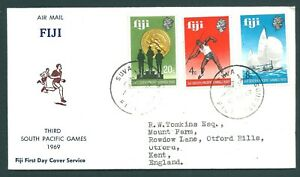 FIJI 1969 Illustrated South Pacific Games First Day Cover