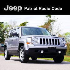 Código de radio Jeep Patriot desbloquear decodificar los códigos de seguridad todos los vehículos de servicio rápido