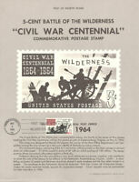 #1181 5c Battle of Wilderness Stamp Poster- Unofficial Souvenir Page Flat HC