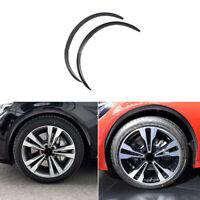 2X Carbon Fiber Car Wheel Rubber Eyebrow Protector Arch Trim Flare Fender StrJ№[