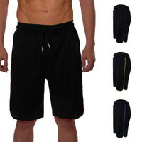 Summer Men's Cotton Elastic Shorts Quick Dry Sports Running Knee Length Pants UK
