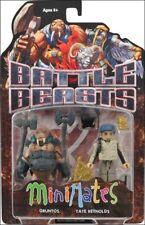 Diamond Select Toys Battle Beasts Minimates Series 1: Gruntos & Tate #soct17-46