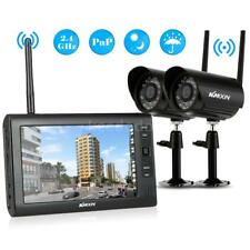 "Wireless Security Surveilance System 7""LCD 2CH Monitor With 2X CCTV Cameras P9T1"