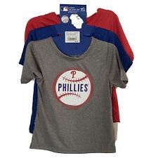 3 Pack MLB Philadelphia Phillies Boys Short Sleeve TShirt Toddler Size 4T