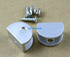 12 Pieces Glass Shelf Clamp Clip Bracket Shelf Support / Semicircle / Aluminum