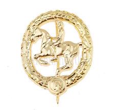 WW2 WWII GERMAN SOLDIER MEDAL WAR HORSE TOTENKOPF METAL BADGE GOLD-33897