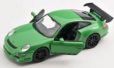 BLITZ VERSAND Porsche 911 997 GT 3 RS grün 1:34 Welly Modell Auto NEU & OVP