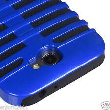 Samsung Galaxy Note II 2 Mic Dual Layer Hybrid Case Skin Cover Blue Black