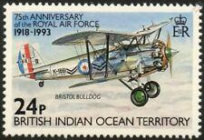 BRISTOL BULLDOG / RAF Biplane Fighter Aircraft Mint Stamp (1993 BIOT)