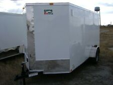 enclosed cargo trailer 6x12 ramp door v nose, black or white,SPECIAL OPTION INFO