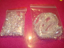 75 MIXED SIZES CLEAR AB RONDELLE 3+6+8mm SWAROVSKI CRYSTAL BEADS (USA SELLER)