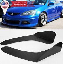 Black Front Bumper Lip Splitters Spoiler Winglet Blade Valances For Honda Acura