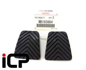 2 x Genuine Clutch Brake Pedal Rubbers For Mitsubishi Lancer Evo 4 5 6 MB193884