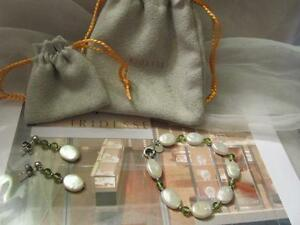 Tiffany & Co. Iridesse Pearls Peridot Quartz Drop Dangle Earrings & Bracelet