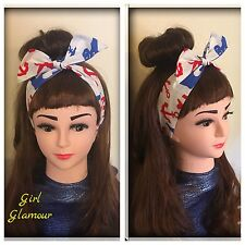 Nautical Anchor Headband Bandana Hairband Headscarf Hair Tie Band Sailor Costume
