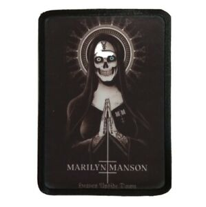 * MARILYN MANSON * sew on patch.band,rock,metal,merch tour.antichrist,holy,