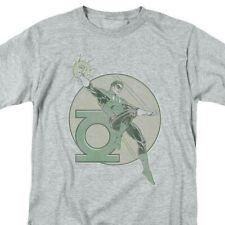 Green Lantern T-shirt retro 80s DC comic book cartoon superhero grey tee DCO603