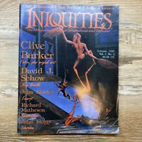 Iniquities: Magazine of Wickedness & Wonder #1 1990 Clive Barker Matheson Lannes