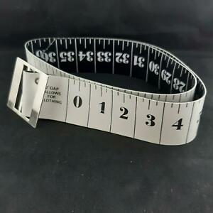 Tape Measure Belt Black and White Small Ska Mod Novelty.Plastic