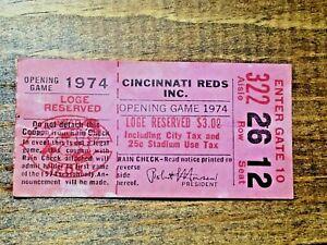 Hank Aaron Ticket Stub Homerun #714 4/8 1974 vs. Cincinnati Reds Ties Babe Ruth